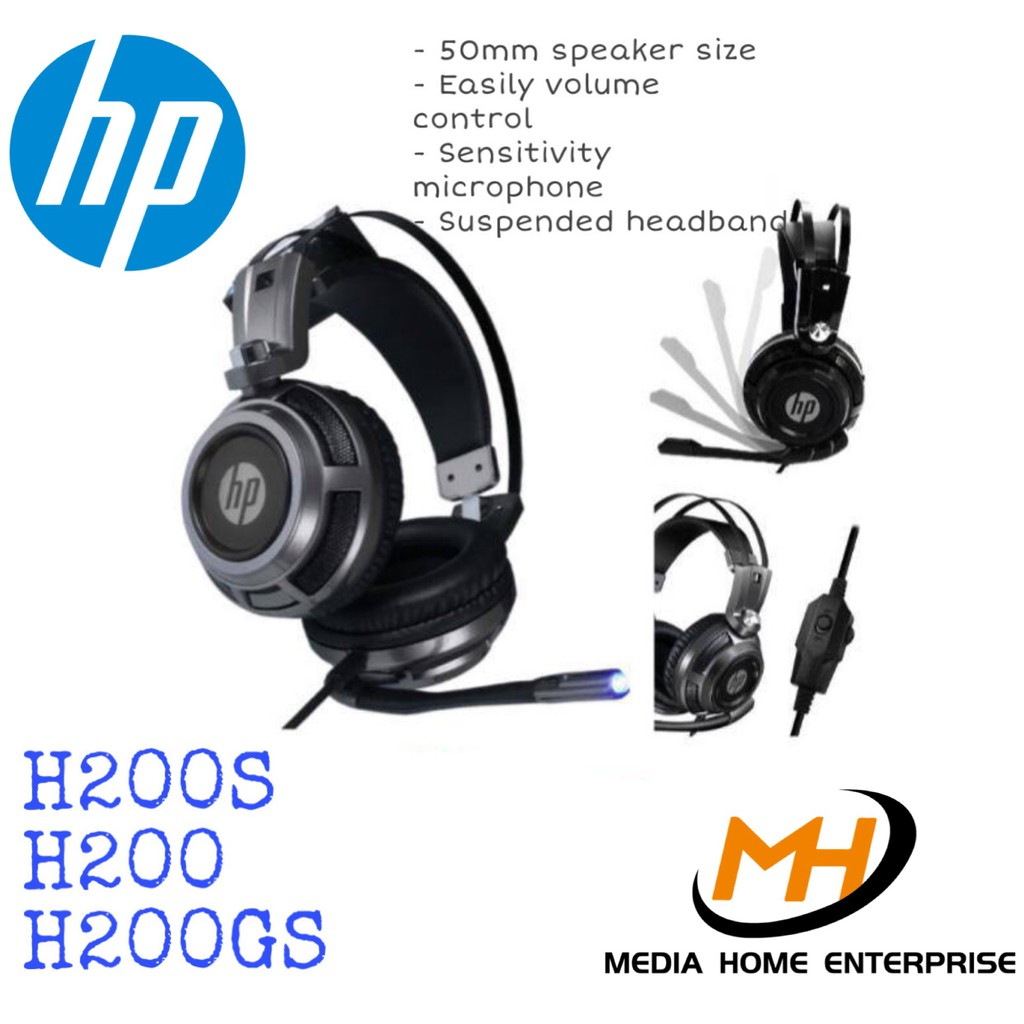 HP Gaming Headset H200 - with / without backlight, 50mm speaker size