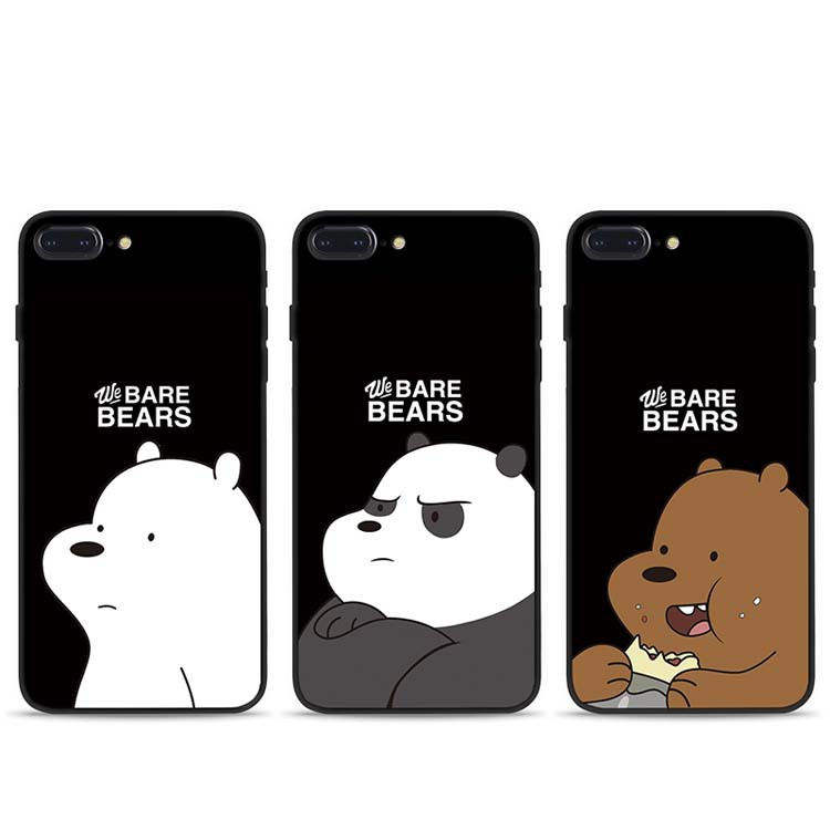 official photos 26b46 3fc22 Oppo A59 F1s A53 A57 A39 A37 A77 F3 We Bare Bears Soft Case Phone Casing  Cover