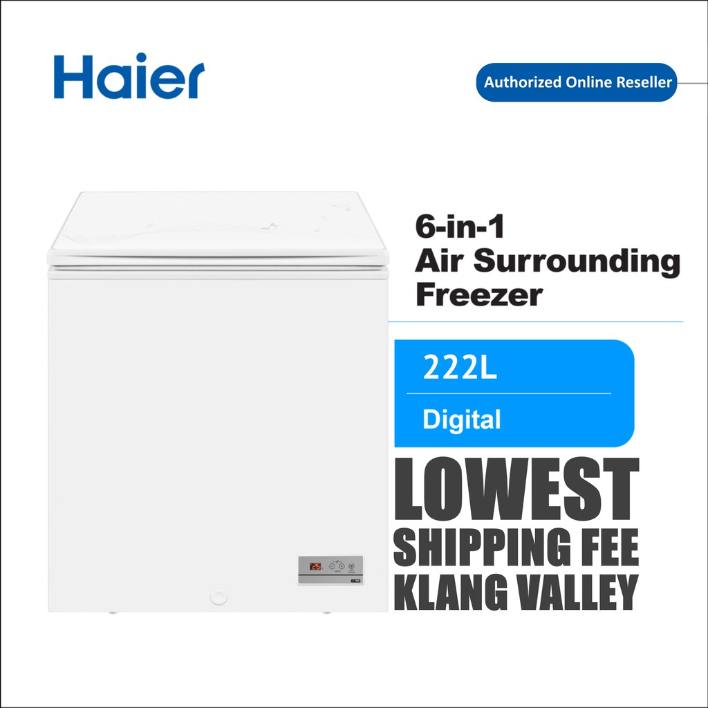 Haier BD-222HEF 222L 6in1 Chest Freezer Peti Beku with R600a Refrigerant