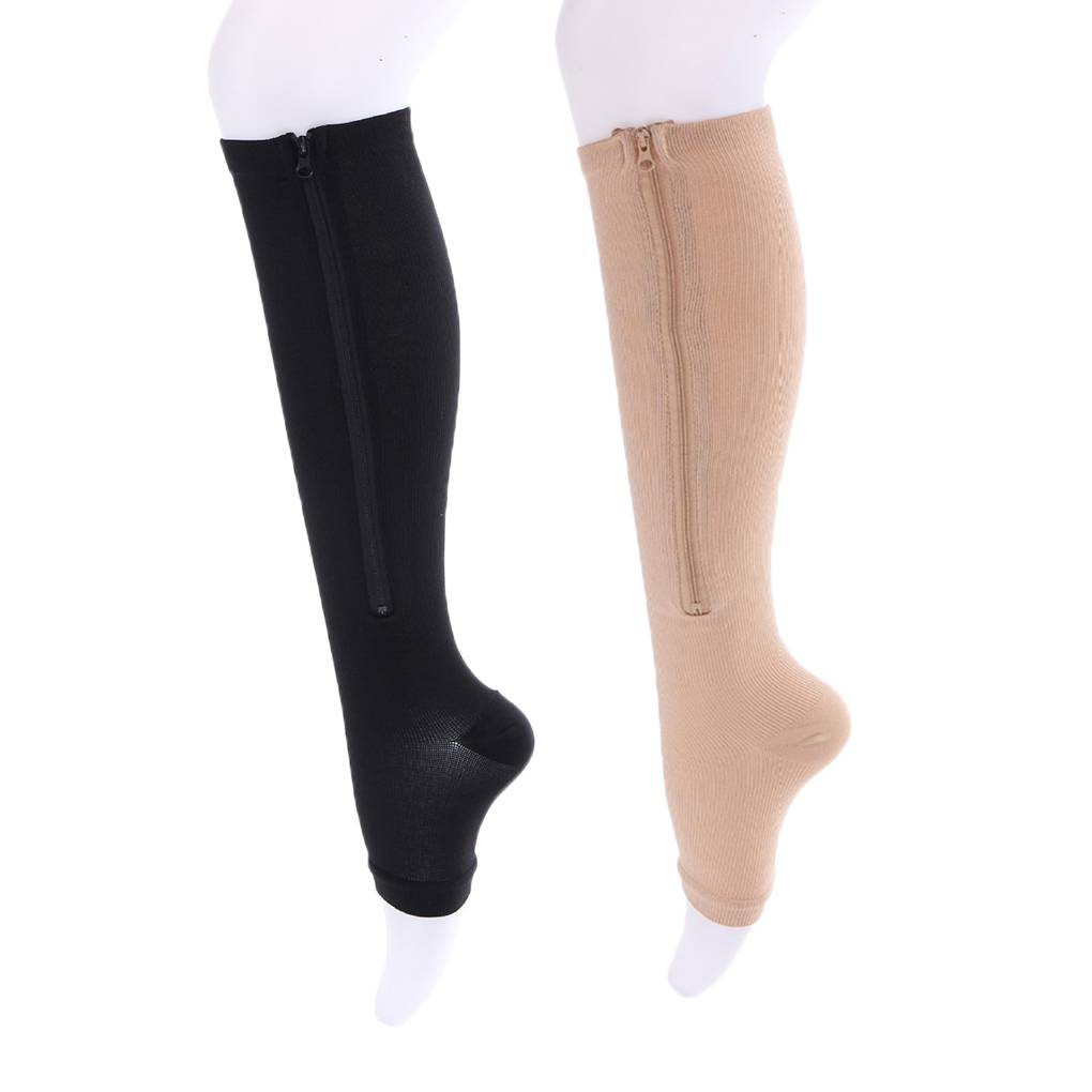 d10bda52fd Leg Compression Stockings Zip Preventing Varicose Veins Skinny Socks    Shopee Malaysia