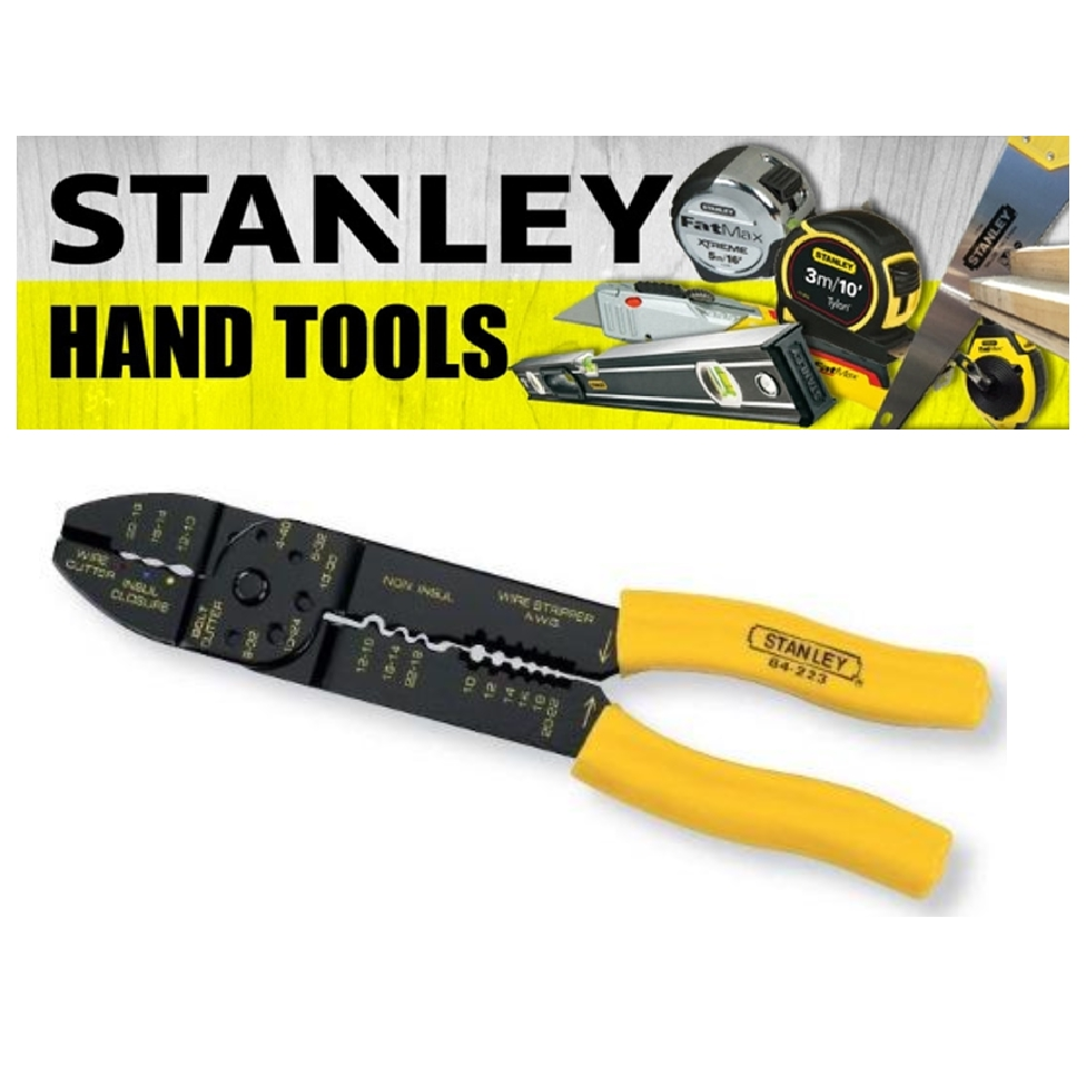 STANLEY CRIMPING PLIERS AND SET 9' 230MM YELLOW BLACK