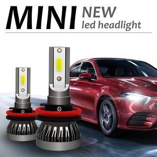 2Pcs 72W Mini COB H4 H11 9005 9006 6000K Car Headlight LED Bulbs Conversion  Kit