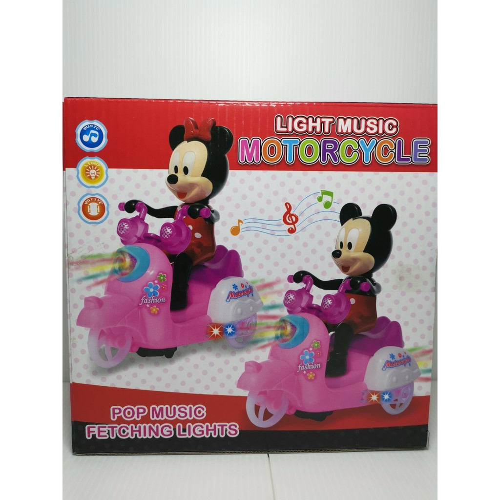 COLOURFUL LIGHTING MICKEY MOTORCYCLE MUSIC
