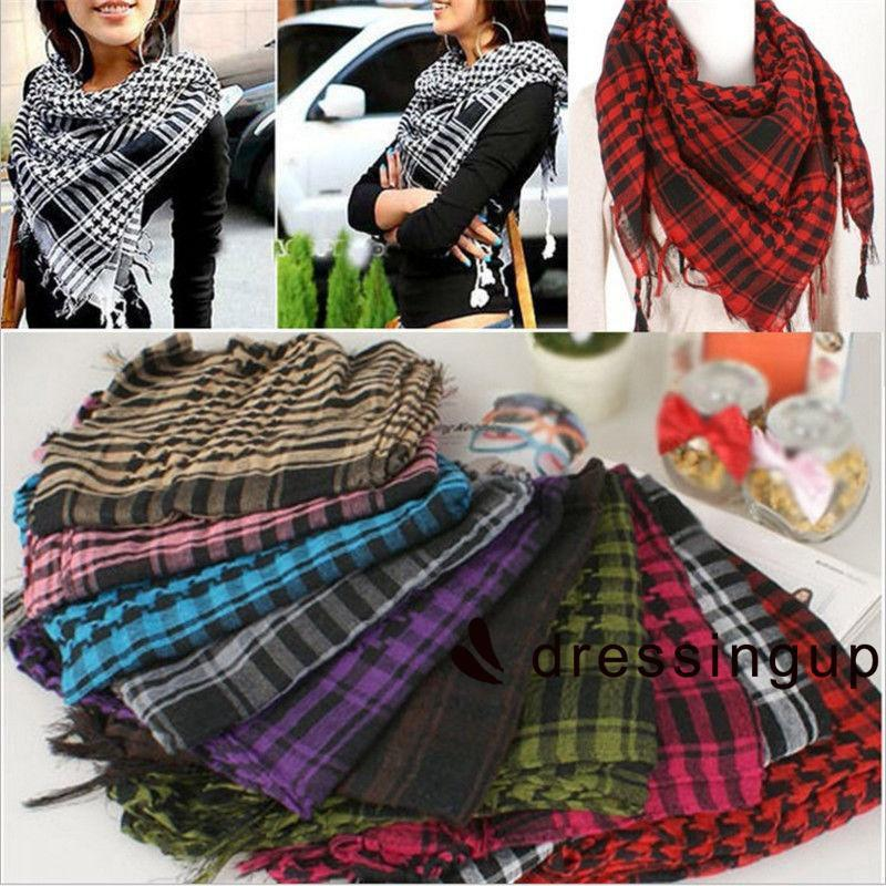 Tootless Men Tassels Business Plaid Pashmina Simple Wrap Scarves