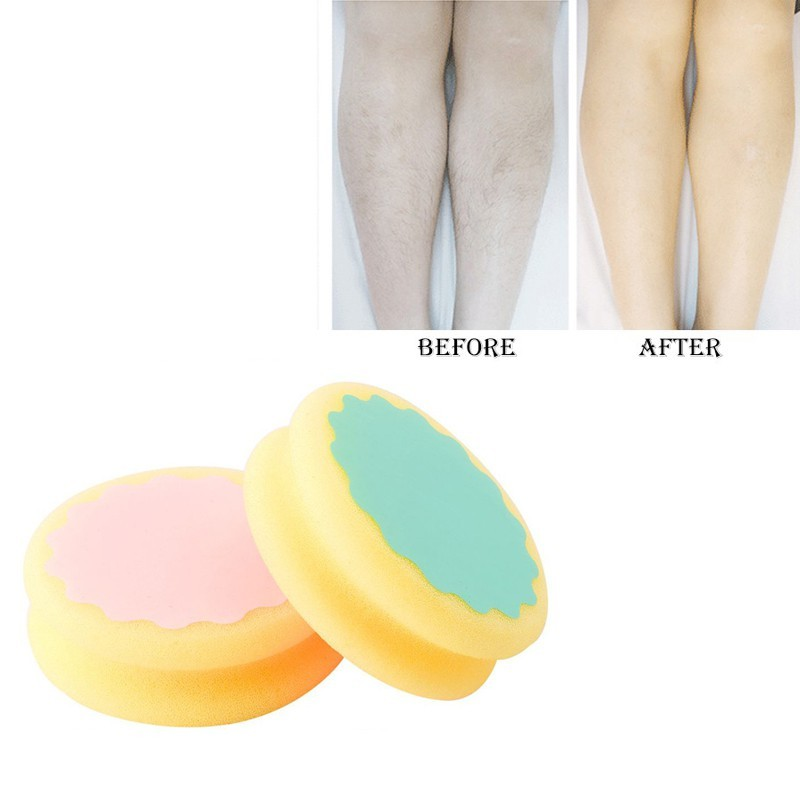 Trustful Water Drop Shape Painless Hair Removal Depilation Sponge Double-sided Pad Waxing Polishing Face Arm Leg Hair Removal Tool Hair Removal Cream Shaving & Hair Removal