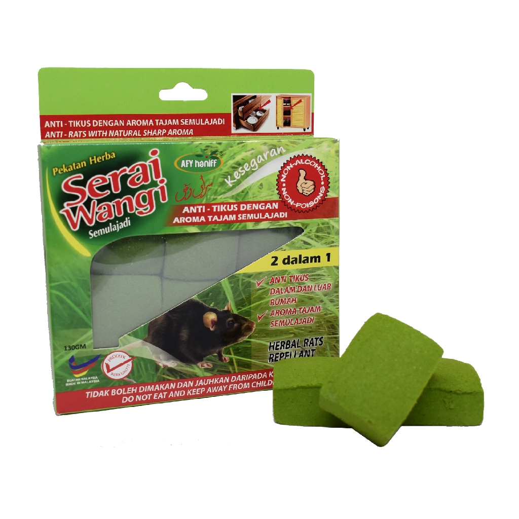 Afy Haniff Serai Wangi Herbal Rats Repellant (130g)
