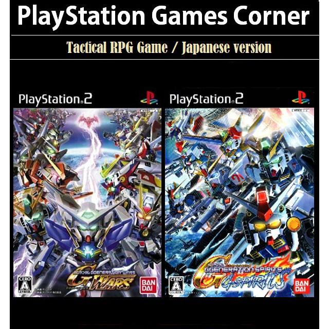 PS2 Game PS2 SD Gundam G Generation Wars, Spirits , Tactical RPG Game, Japanese version / PlayStation 2