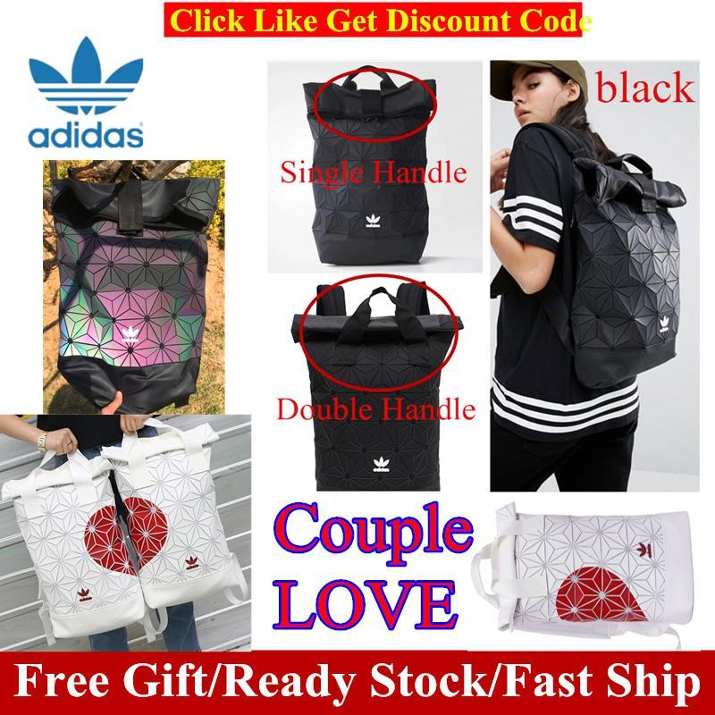 Adidas x Issey Miyake 3D Urban Mesh Roll Up Black Backpack Bag ... 1058c75aea3e3