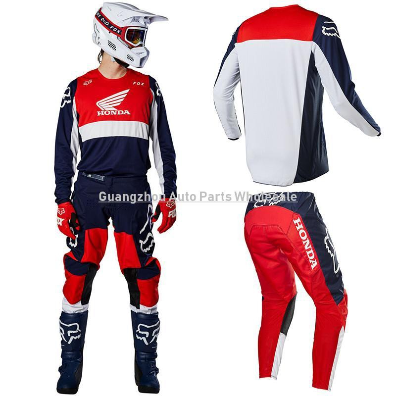 cheap price united states new york Pk】Pro Fox Honda Dirt Bike Motocross Gear Sets MTB MX ATV Riding ...