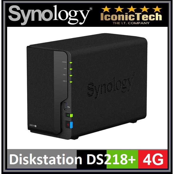 Synology DiskStation DS218+ (4G) 2-Bay NAS Enclosure