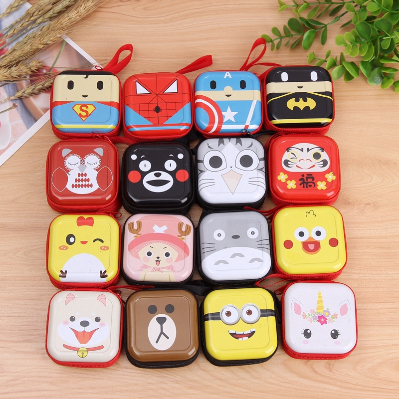 Cute Cartoon Coin Purse / Earphone Motif for Women