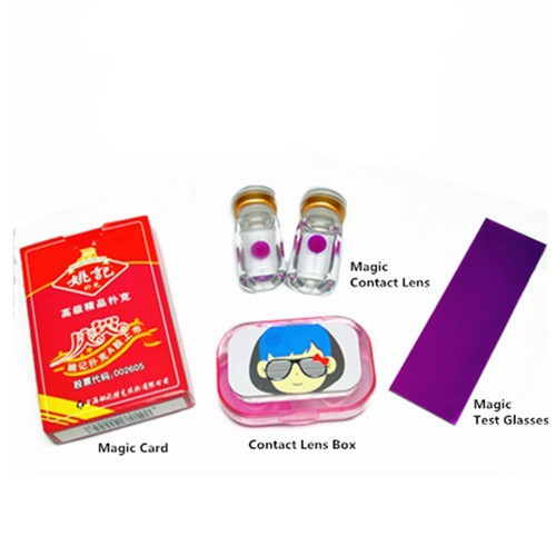Magic Invisible Ink Poker Cards + UV Contact Lenses