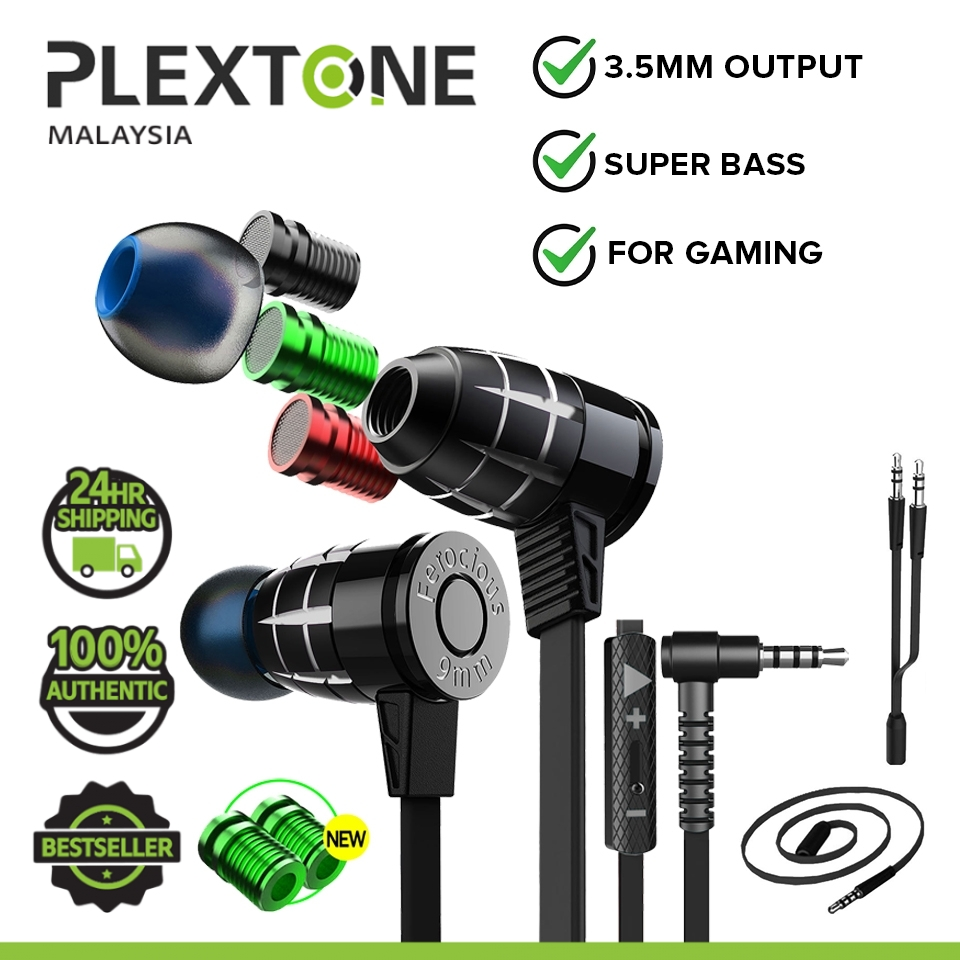 PLEXTONE G25 Super Bass Bullets Style Gaming Earphone With Mic Magnetic