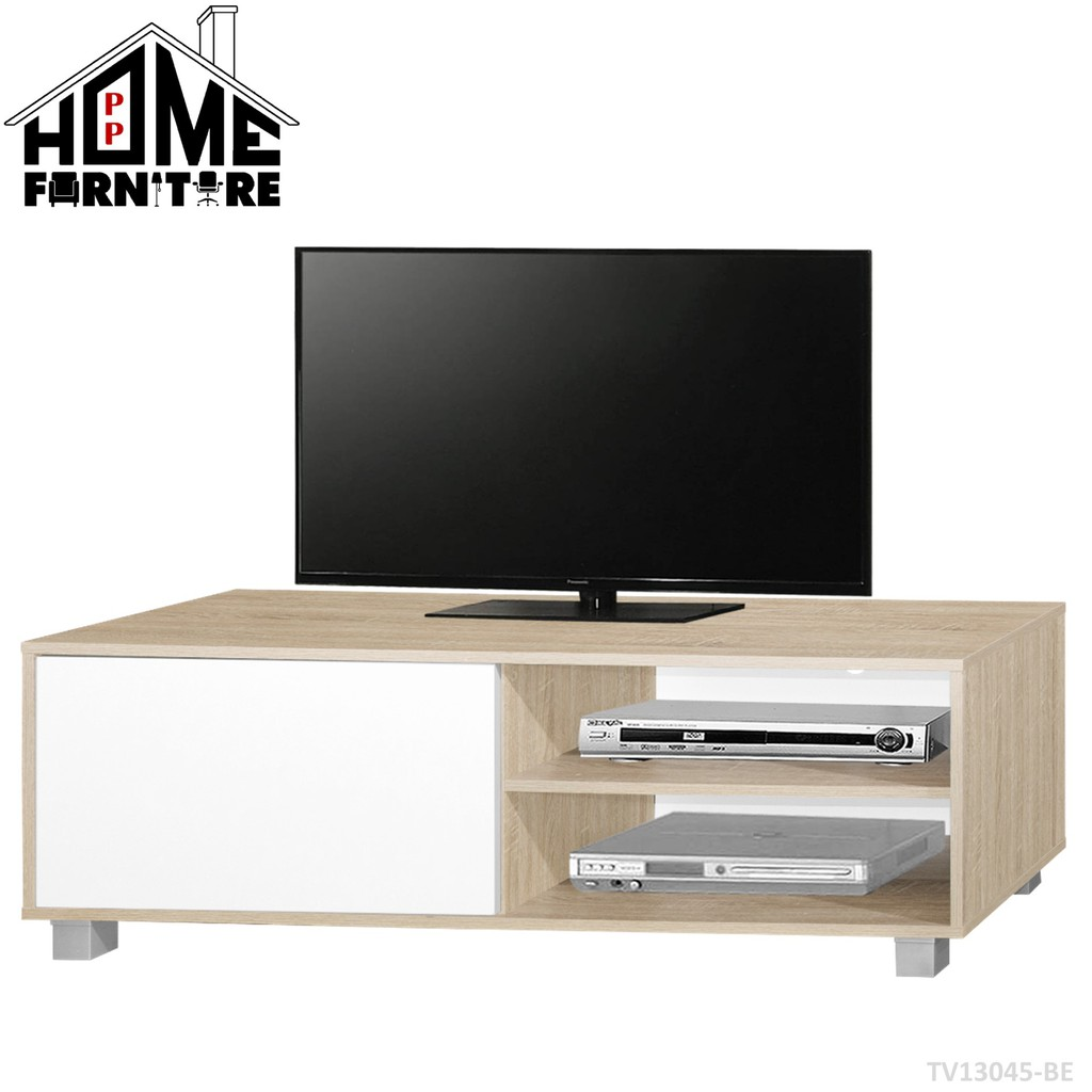 Pp Home Tv Cabinet With Door Tv Rack Tv Console Tv Table Media Storage Almari Tv Kabinet Tv Rak Tv Meja Tv 电视柜 电视橱 电视桌 Shopee Malaysia