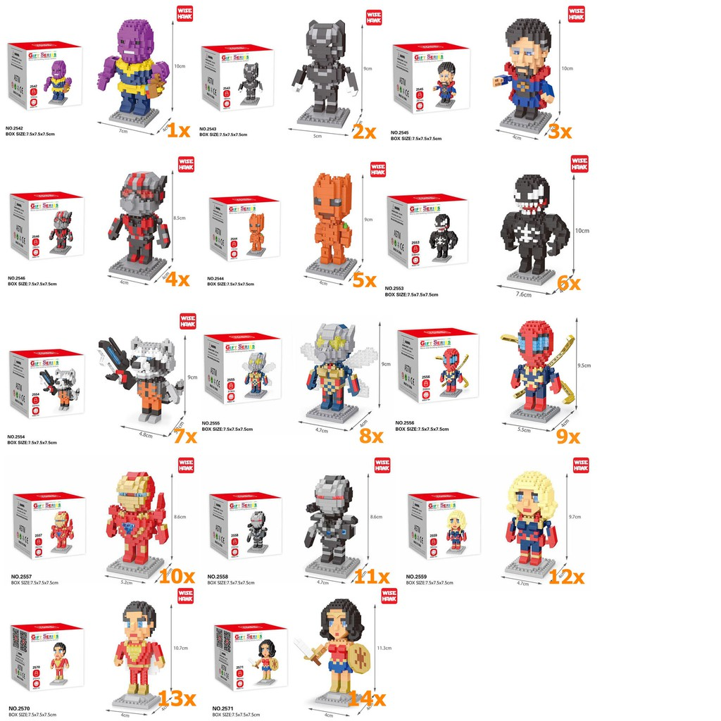 เลโก้ super  ตัวต่อฮีโร่ การ์ตูน Size M  ถูกกว่าสะพานเหล็ก !! เลโก้ นาโน เลโก้ SPG มาแล