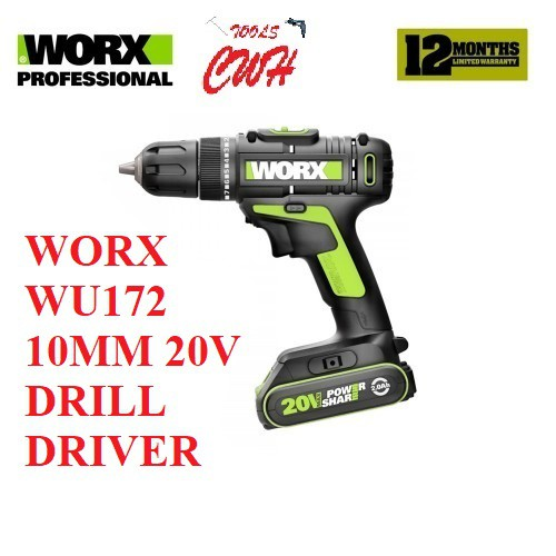 WORX WU172 10MM 20V CORDLESS DRILL DRIVER SCREWDRIVER GERUDI GSR180-LI GSR18V-50 DDF453