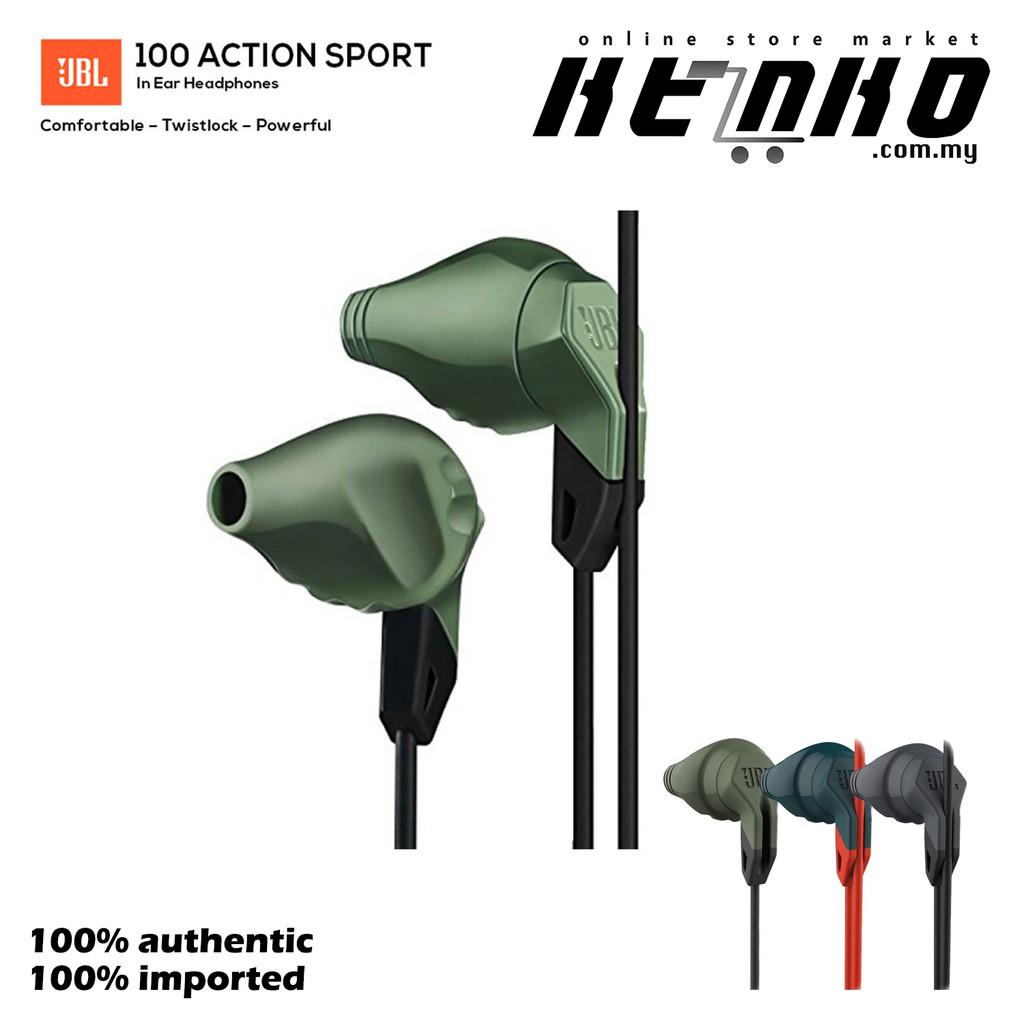 4da7199a1f1 JBL HARMAN Grip 100 Action Sport In Ear Headphones (olive) | Shopee Malaysia
