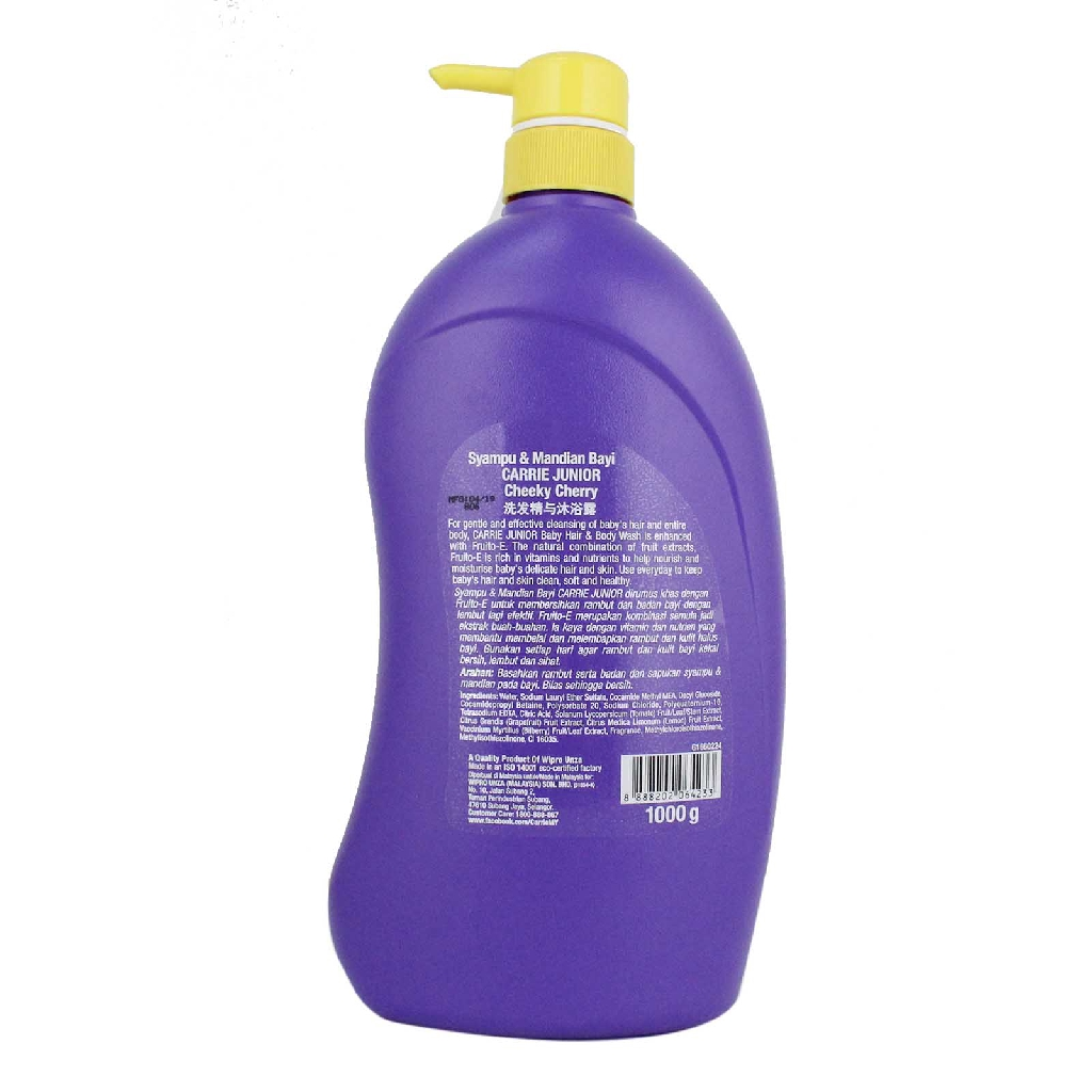 Carrie Junior Baby Hair & Body Wash 1L - 2 Variants