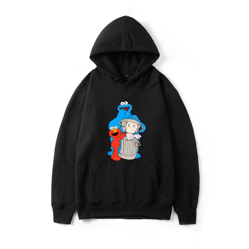 designer fashion outlet boutique 50% price Uniqlo KAWS 6 warna Sweater Hoodie Kaws Sesame Street Elmo ...