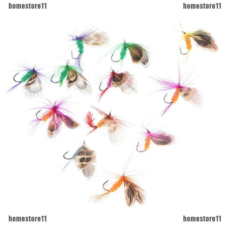 12pcs butterfly flies trout freshwater fly fishing fly trout fishing lures