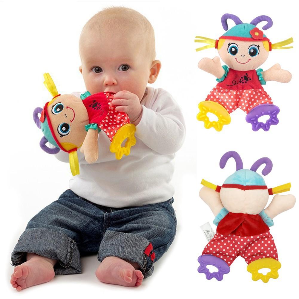 ตุ๊กตา ผ้าขนหนู ยางกัด แบบมีเสียง สำหรับเด็