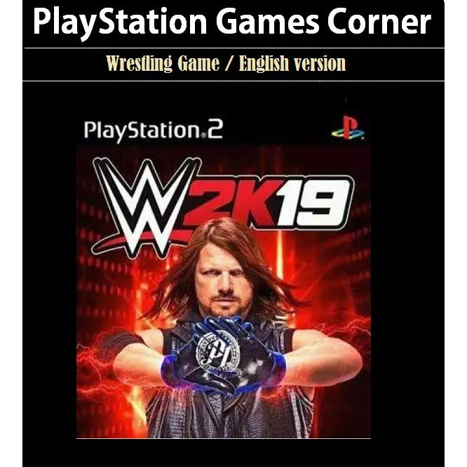PS2 Game WWE 2K19, English version, Wrestling Game / PlayStation 2
