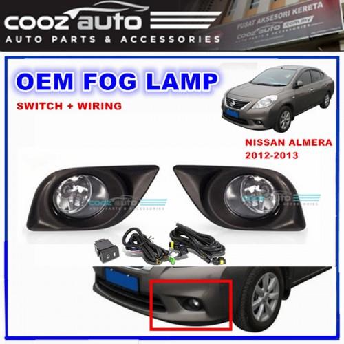 Fog Light Kit for Mitsubishi Lancer CF 2015-2017 with Wiring /& Switch