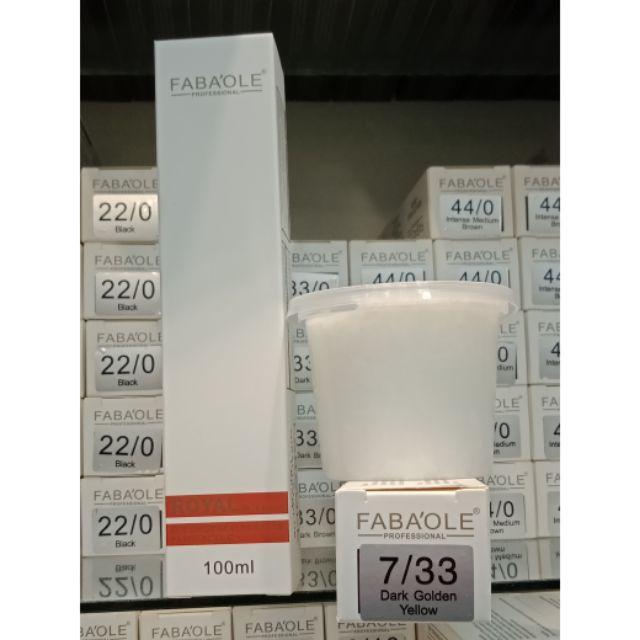 Fabaole color (Dark Golden Brown.7/33) 100ml foc peroxide cream 100ml(Dark Golden Brown.7/33)