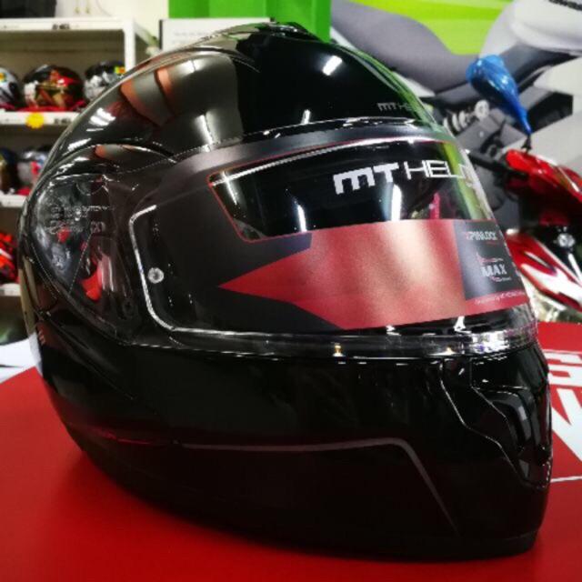 MT Helmet Atom SV Flip Up Fullfaced Double Visor Helmet