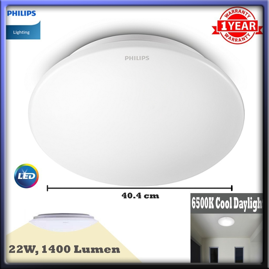 Philips 33365 Moire 22w Led Ceiling Light Shopee Malaysia