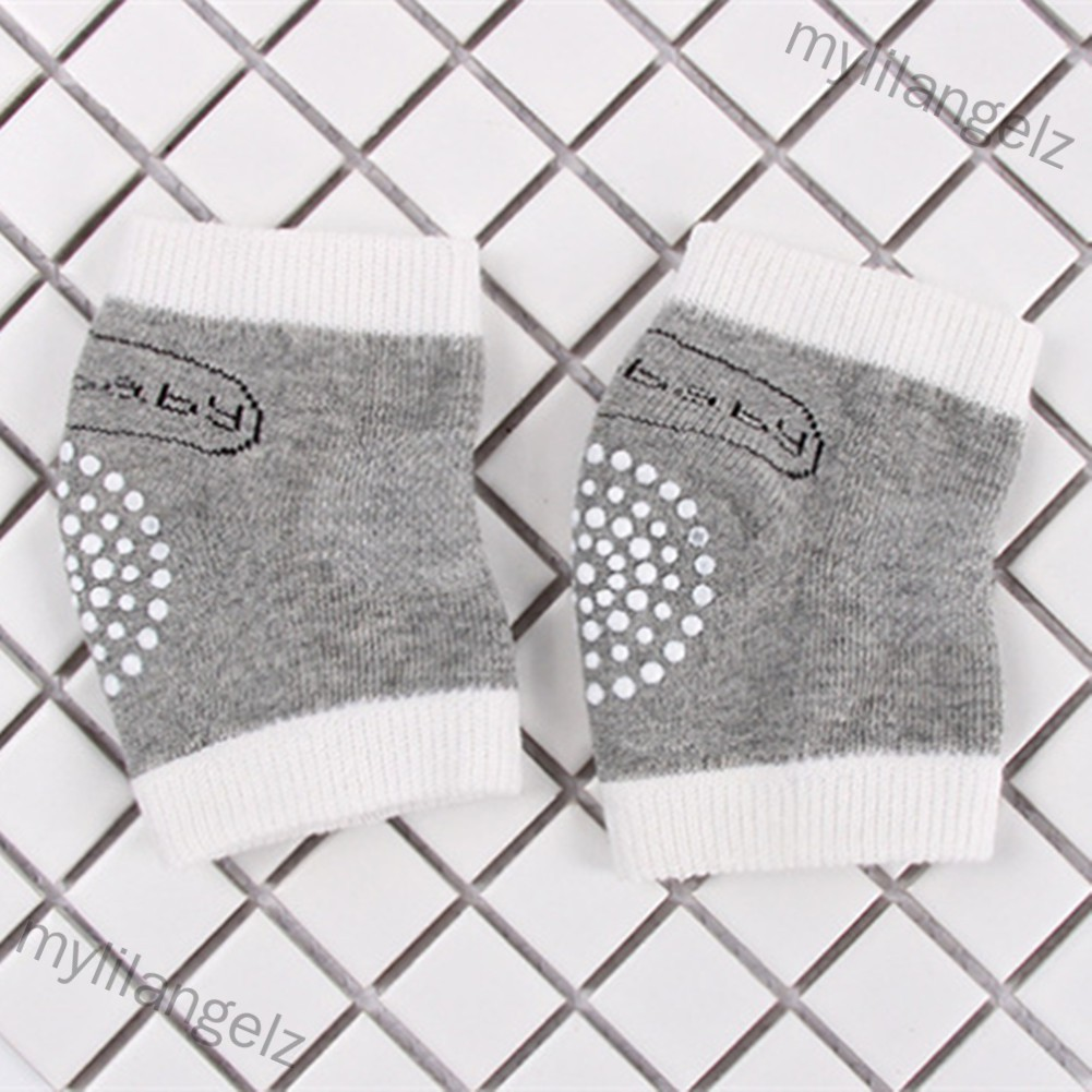 Mylilangelz Children Mesh Cute Letters Cotton Terry Dispensing Anti-Slip Knee Pads Elbow Socks for Baby