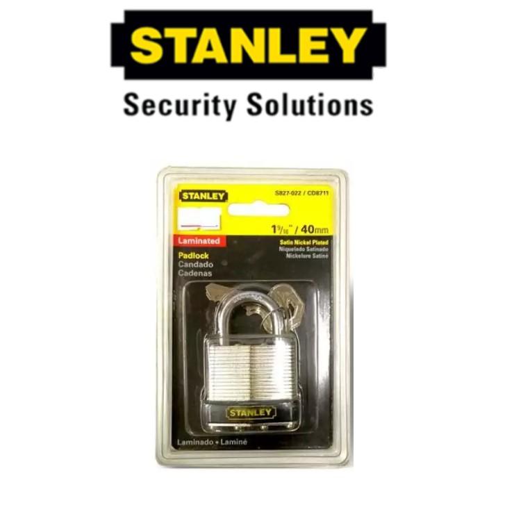 STANLEY S827-022 '40MM LAMINATED PADLOCK SECURITY LOCK