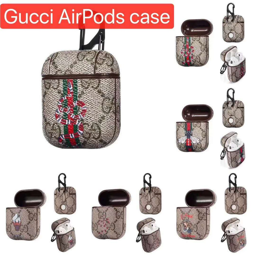 Gucci Airpods Earphone Leather Fashion Case Shockproof Protective