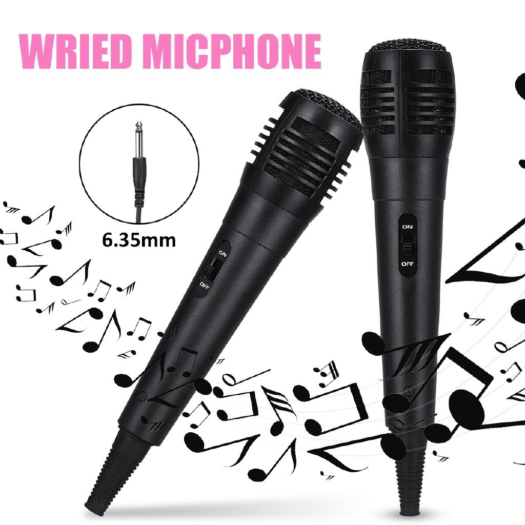 Karaoke Christmas Musical.Handheld Wired Dynamic Microphone Audio Karaoke Xmas Party Music