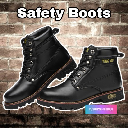 b1e7072acfe MEN Labour Working Safety Boots 牛筋底防砸高筒安全靴