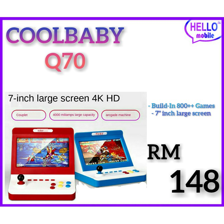 COOLBABY Q70 MINI GAME HANDHELD/CONSOLE HOME CLASSIC OLD-FASION