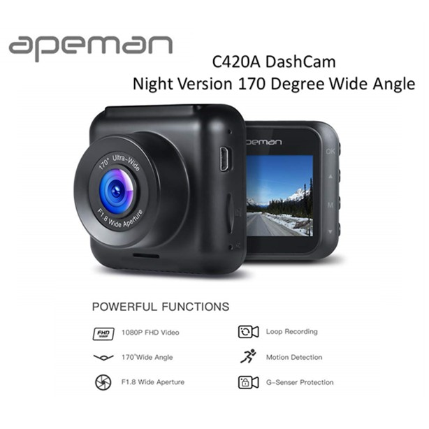 Parking Mode 1080P Full HD Dash Camera for Cars Loop Recording APEMAN Mini Dash Cam with Hidden Design Motion Detection 170/° Wide Angle Car Video Recorder with G-Sensor