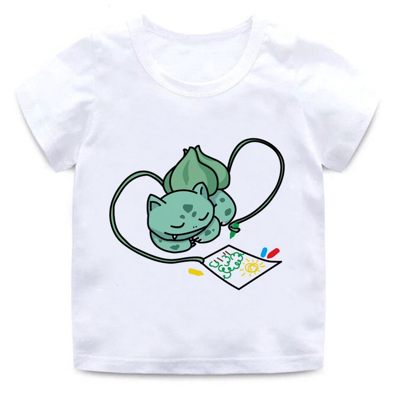 3D Printed T-Shirts Doodle Winter Princess with Unicorn Short Sleeve Tops Tees