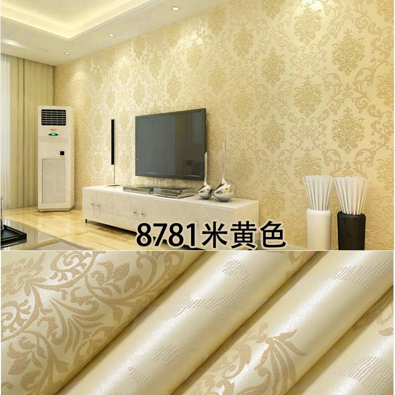 Wallpaper 3d Sticker Waterproof Bedroom Floral Wallpaper Wall Home Decor Art Shopee Malaysia