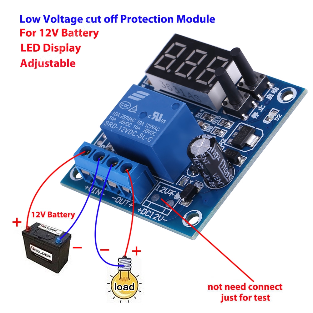 Automatic 12V Battery Low Voltage Cut off Turn On Excessive Protect Board  New UK