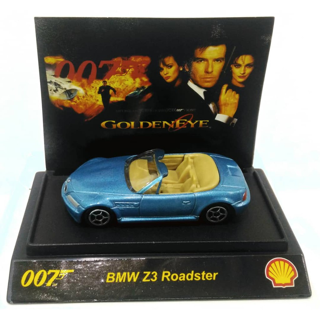 Shell Bmw Z3 Roadster Golden Eye 007 James Bond 1 64 Diecast Model Blue Color Shopee Malaysia
