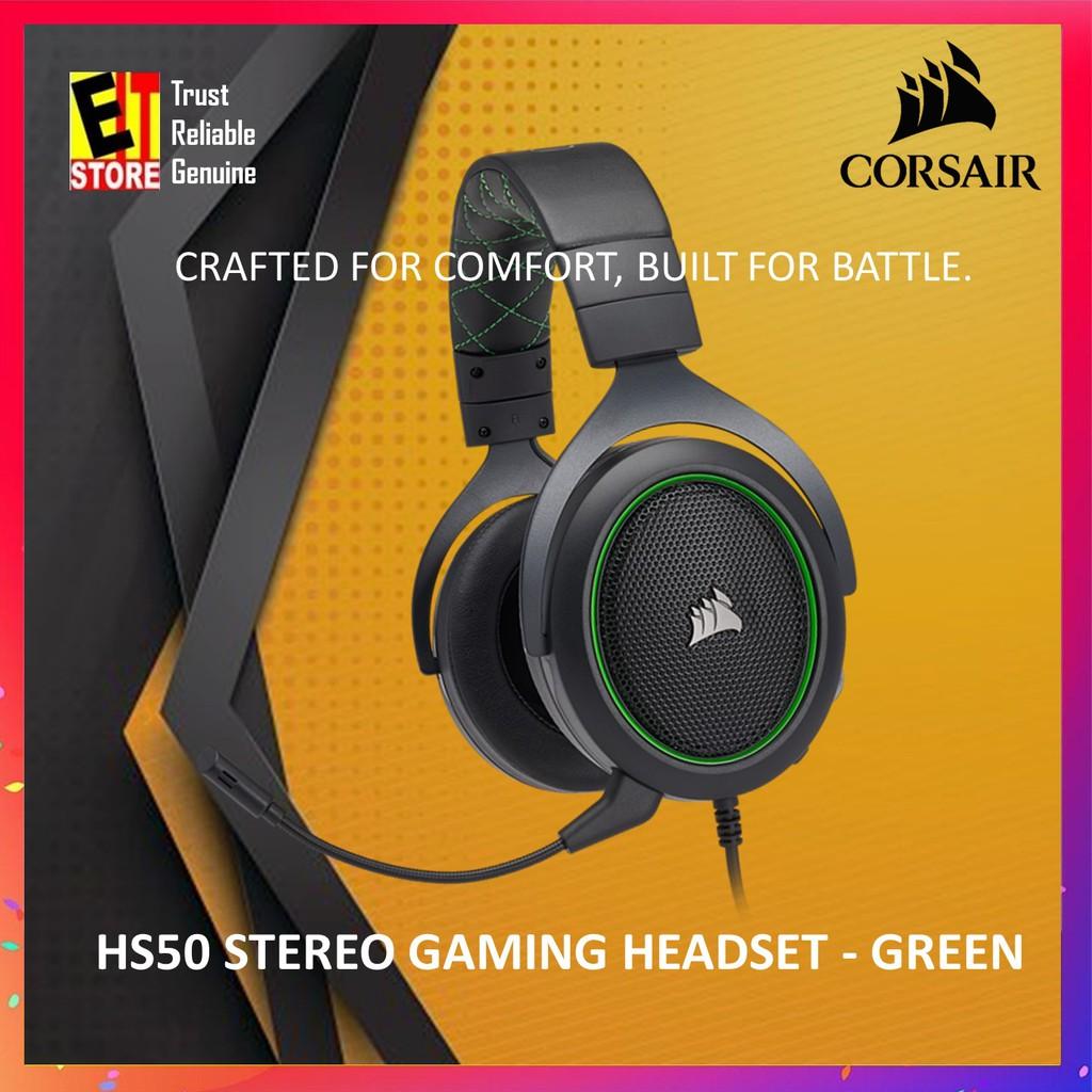 CORSAIR HS50 STEREO GAMING HEADSET — GREEN (CA-9011171-AP)