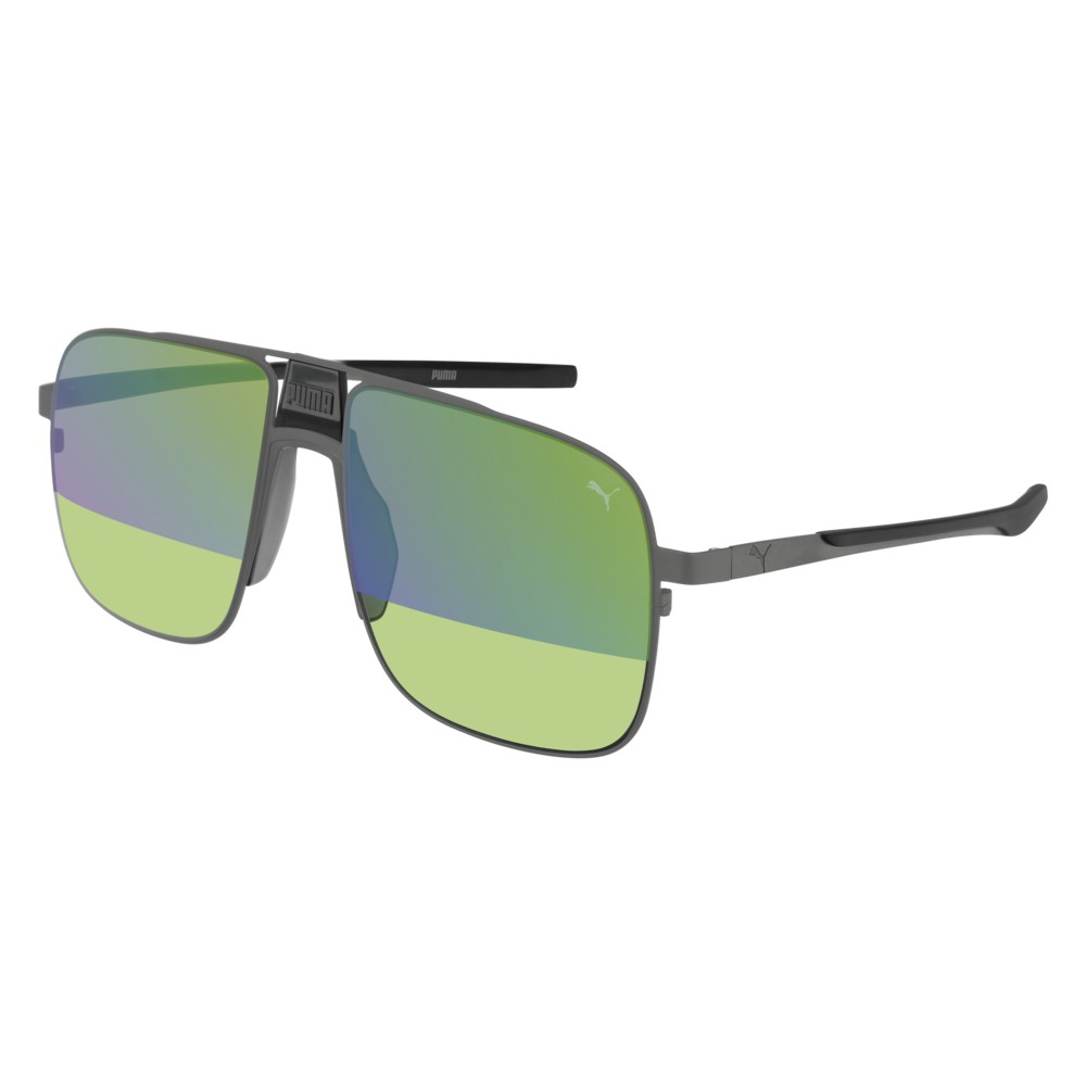 Puma Sunglasses Model PU0223S-005 Ruthenium-Ruthenium-Green