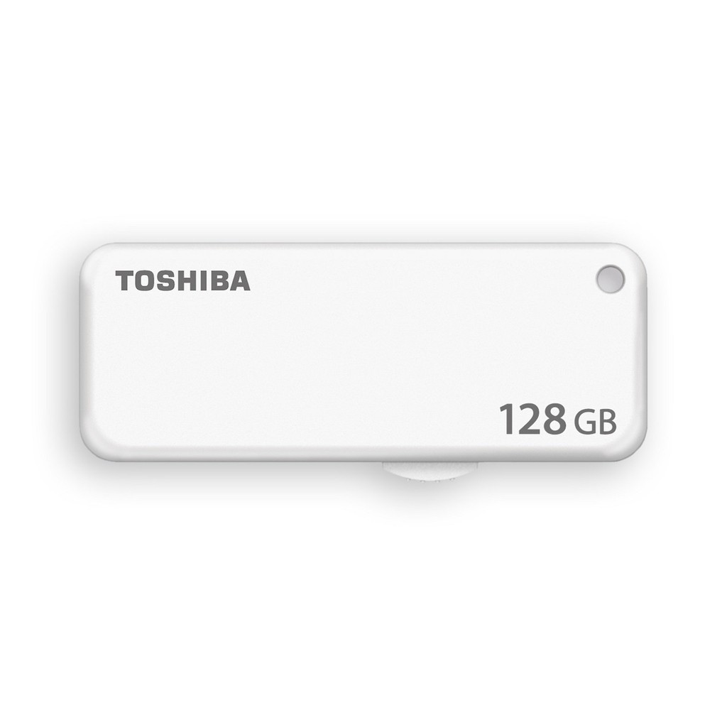 Toshiba U203 Yambiko 128GB USB 2.0 Flash Memory Drive White Color THN U203W1280