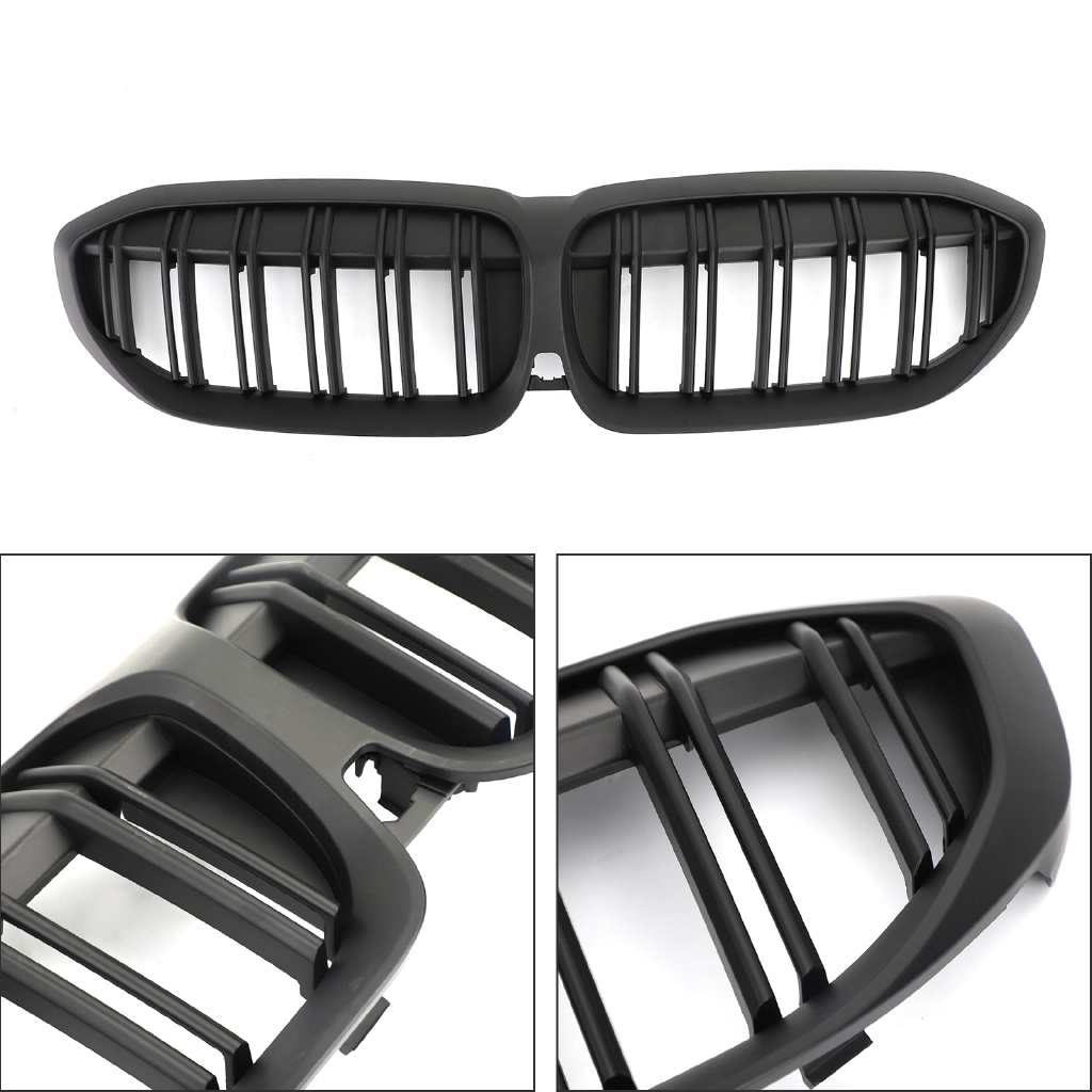 Areyourshop New Matte Black Kidney Grille 51138072085 For Bmw G20 2019 2020 3 Series Shopee Malaysia
