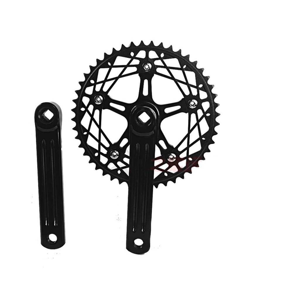 "Black cranks 1//8/"" Track Fixed gear Single Speed Crankset 170mm 50t"