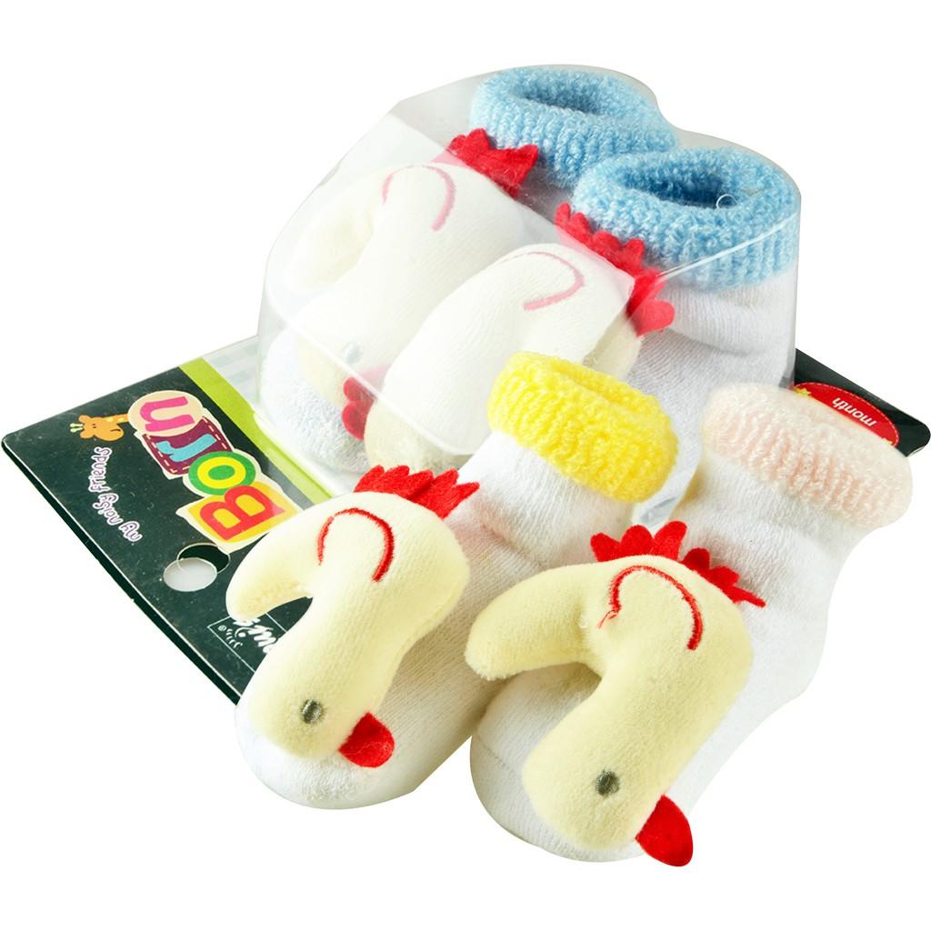 Baby Socks Anti Slip Boy Girl Cotton Newborn Infant Toddler Kids Soft Anti Slip Cute 3D Duck Design