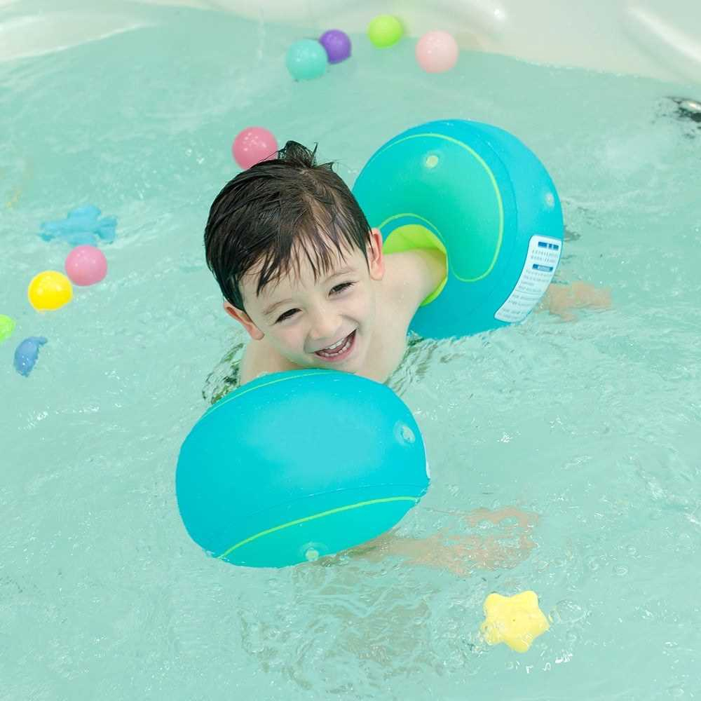 Arm Floats Inflatable Swim Arm Bands Children Swim Arm Circle Floatation Sleeves Arm Bands Rings Floats for Swimming (S