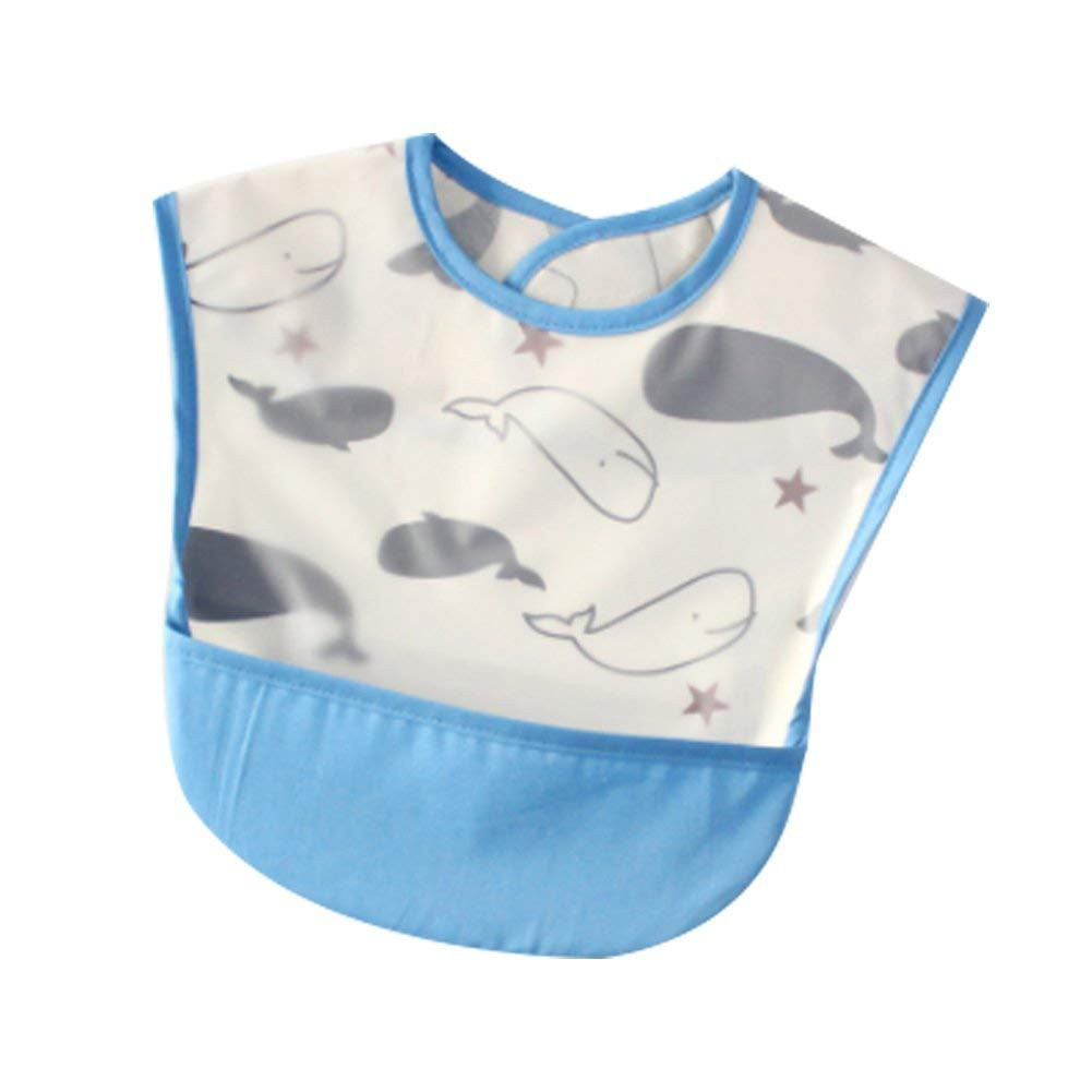 Blue BABY  Infant SOFT BIBS BIB Waterproof Cute Lovely Comfortable Fit Soft