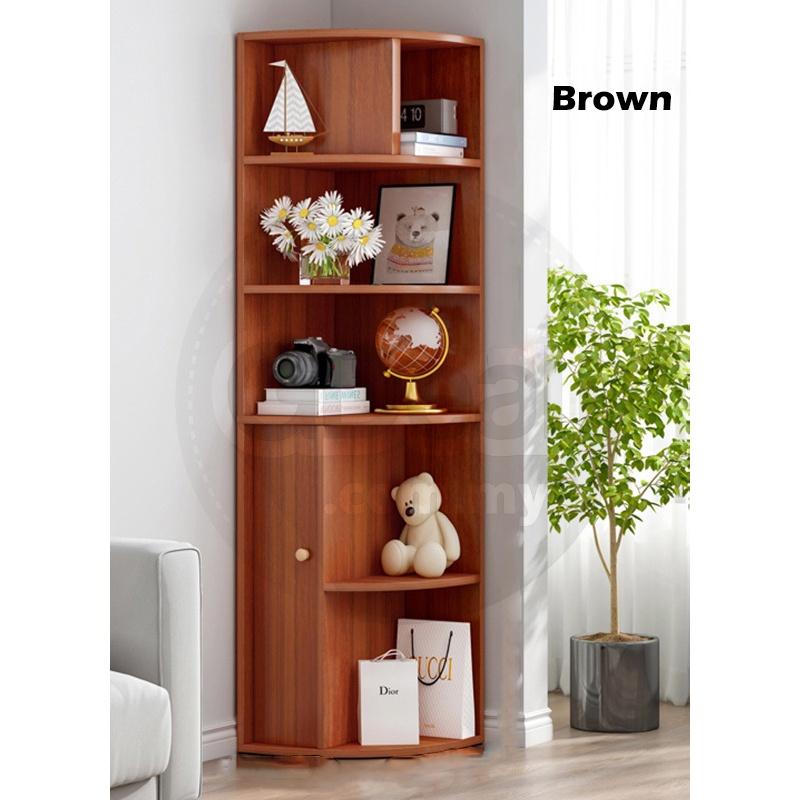 GDeal Triangle Corner Cabinet Large Capacity Storage Shelf Living Room Organizer Bedroom Shelf
